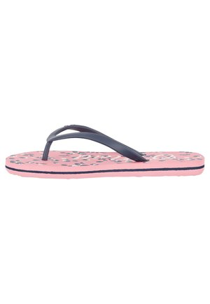 Pool shoes - pink aop w/ blue