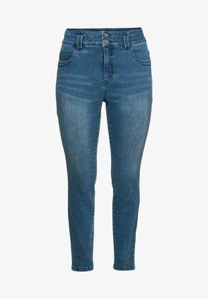 Jeans Skinny Fit - blue used denim