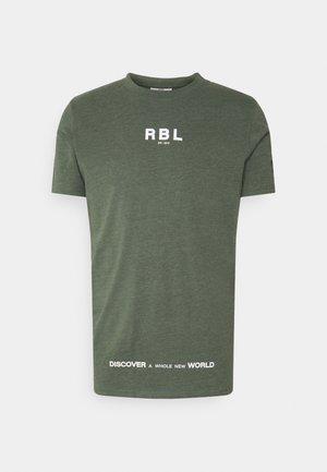 MAKAI TEE - T-shirt con stampa - thyme melange