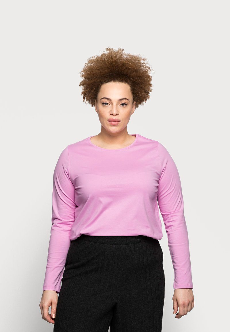 Pieces Curve - PCRIA NEW TEE - Long sleeved top - pastel lavender