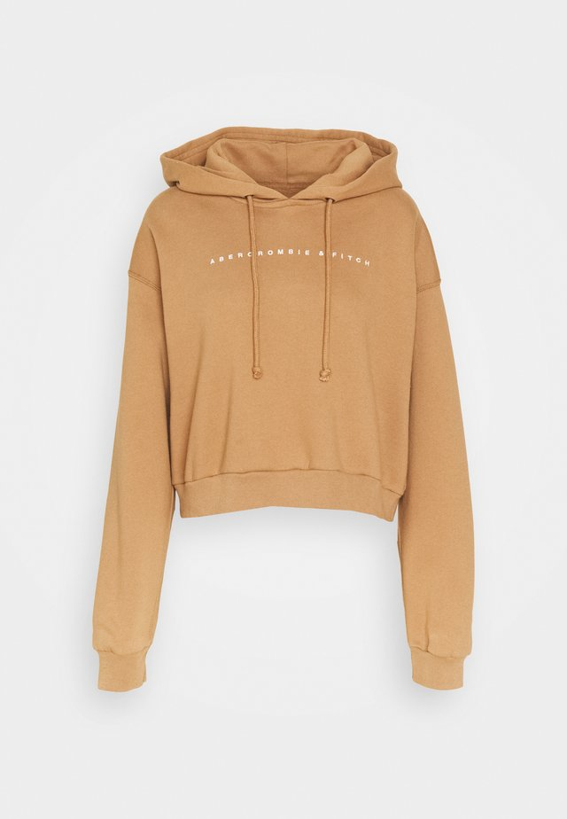 SMALL SCALE LOGO - Hoodie - brown