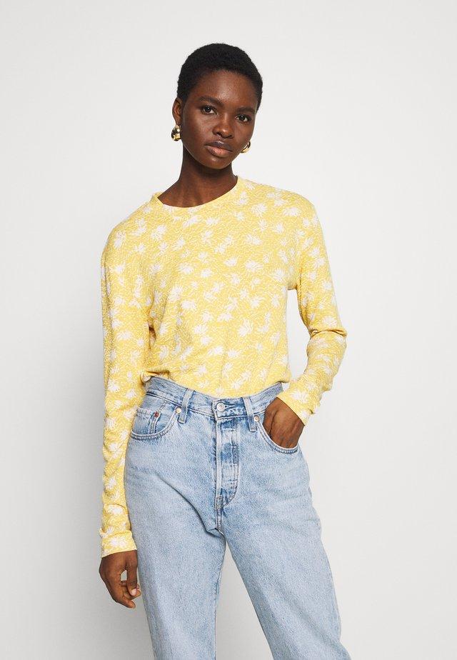 TRISTA - Bluzka z długim rękawem - yellow