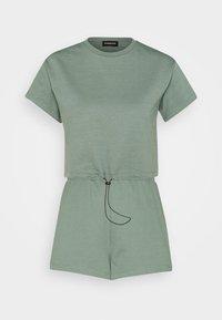Even&Odd - SET - Sweatshirt and Short - Kraťasy - green - 5