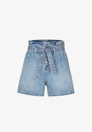 Denim shorts - bleached denim
