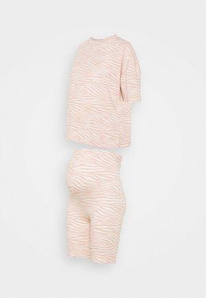 MATERNITY ZEBRRA PRINT TEE AND CYCLING  - Pyjama - pink