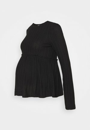 LOUNGE LETTUCE EDGE - Jumper - black