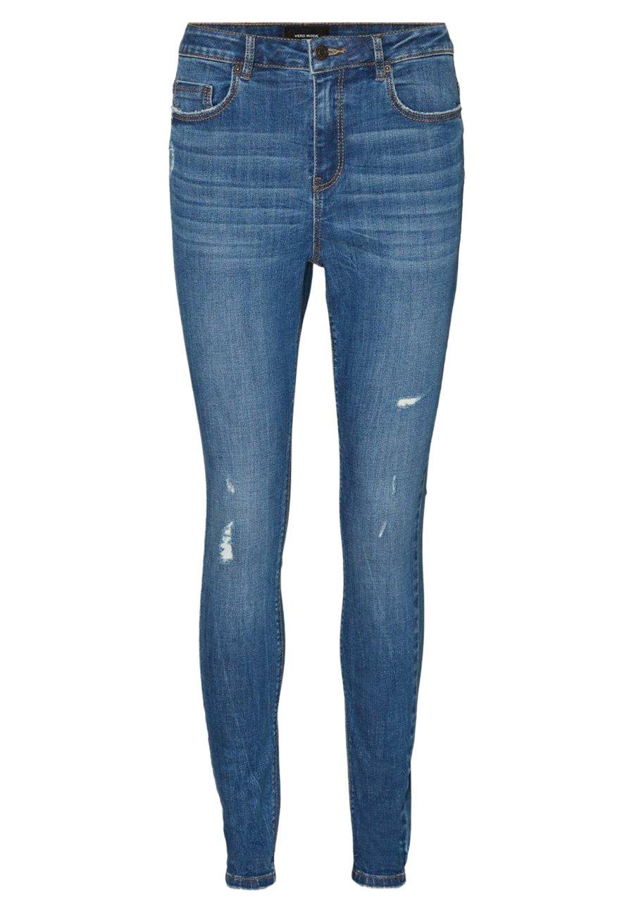 M para Mujer Vero Moda VMLYDIA LR Skinny DESTR J LI401 Color Jeans Blanco