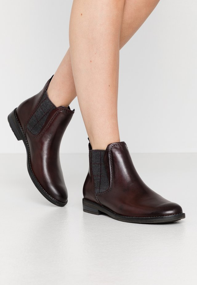 Ankle boot - bordeaux