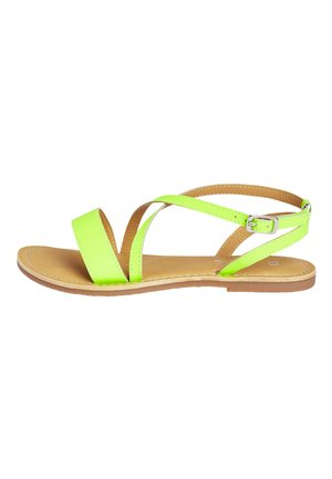 COBALT LEATHER CROSS STRAP SANDALS (OLDER) - Sandals - yellow