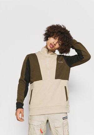 LODGE™ COLORBLOCK HALF ZIP - Sweatshirt - ancient fossil/olive green/black