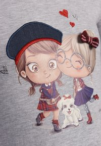 happy girls - Print T-shirt - grey melange - 2