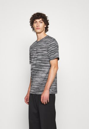 SHORT SLEEVE - Print T-shirt - bianco/nero