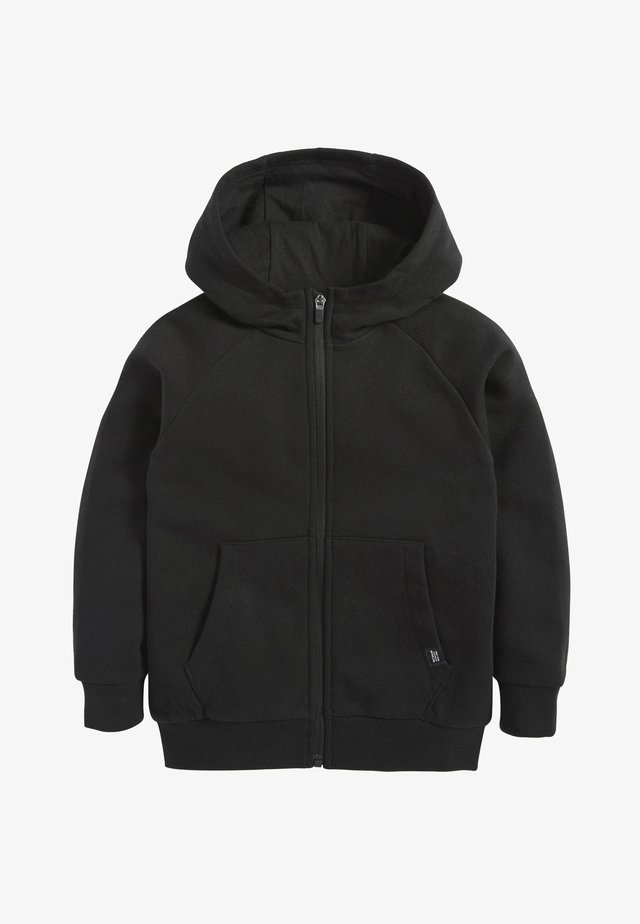 BLACK ZIP THROUGH HOODY (3-16YRS) - Mikina na zip - black