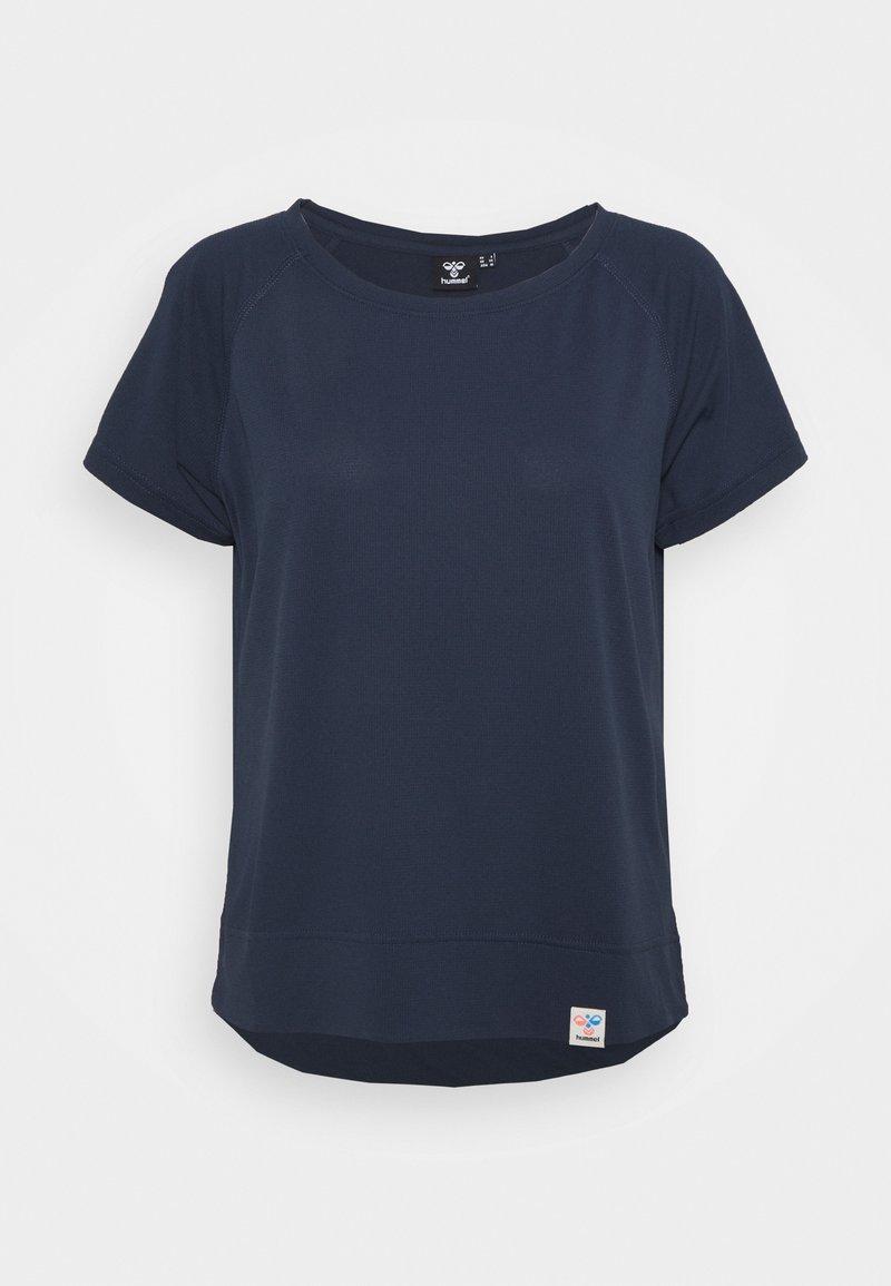Hummel - Basic T-shirt - blue nights