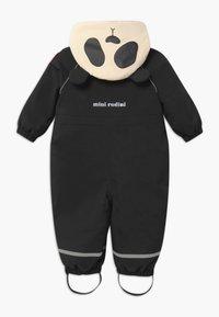 Mini Rodini - BABY ALASKA PANDA UNISEX - Snowsuit - black - 1