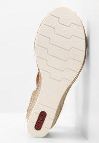 Rieker - Platform sandals - bianco/cognac - 6