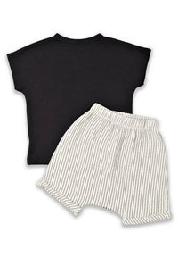 Cigit - T-SHIRT AND  MUSLIN SHORT SET - Shorts - black - 1
