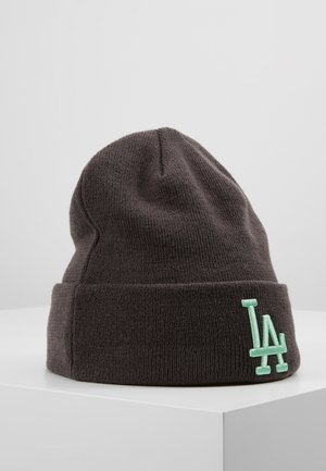KIDS LEAGUE ESSENTIAL CUFF - Beanie - grey/neon green