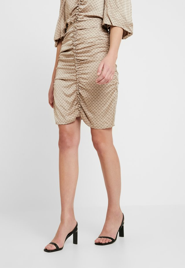 AURA SKIRT - Gonna a tubino - smoke grey