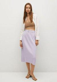 Mango - KATYA - A-line skirt - lys/pastell lilla - 1
