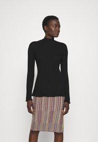M Missoni - MOCK NECK - Long sleeved top - black beauty - 0