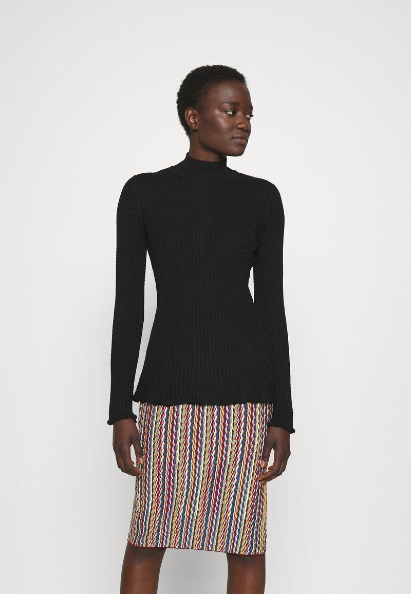 M Missoni - MOCK NECK - Long sleeved top - black beauty