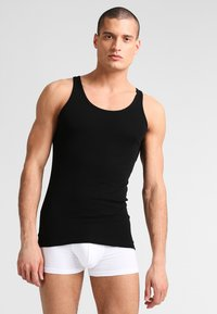 Schiesser - Undershirt - schwarz - 1
