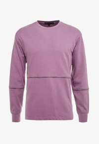 Mennace - UNISEX BRANDED PIPING - Sweatshirt - purple - 4