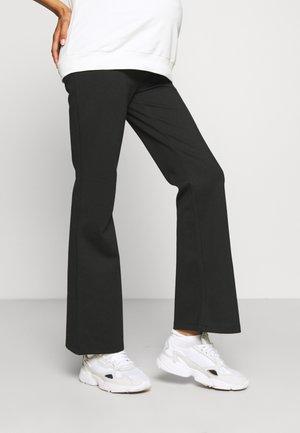 PANTS FLARED PONTE - Bukse - black