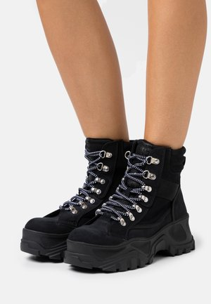 FENDO - Platform ankle boots - black