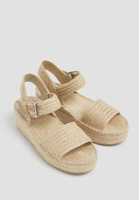 PULL&BEAR - Wedge sandals - sand - 3