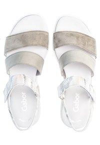 Gabor - Platform sandals - mottled light green/white - 1