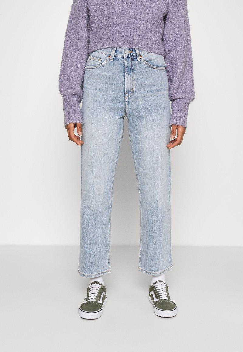 Monki - ZAMI - Straight leg jeans - blue dusty light unique beach blue