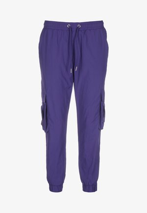 CRINKLE  - Tracksuit bottoms - bluepurple