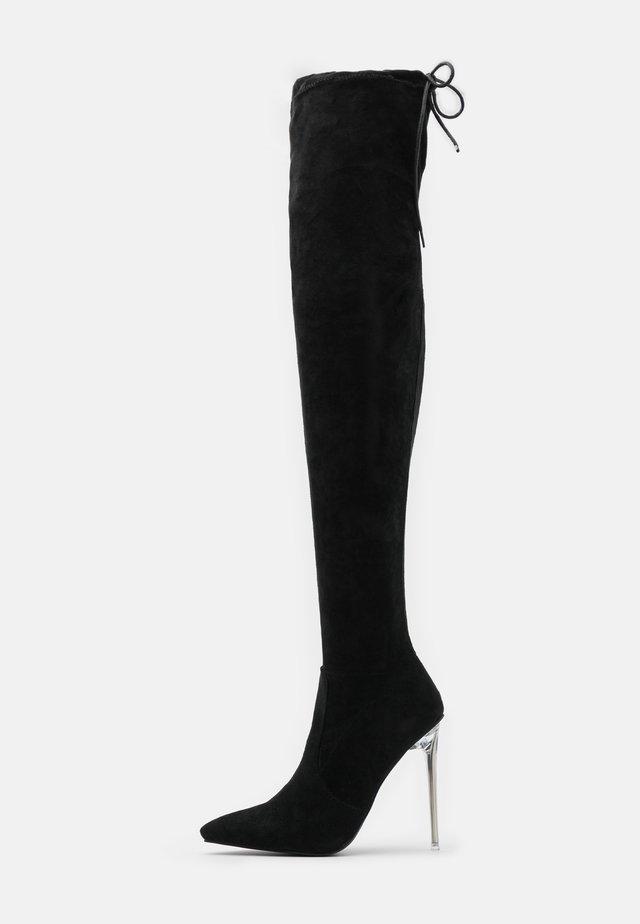 MAKAYLA - Kozačky na vysokém podpatku - black