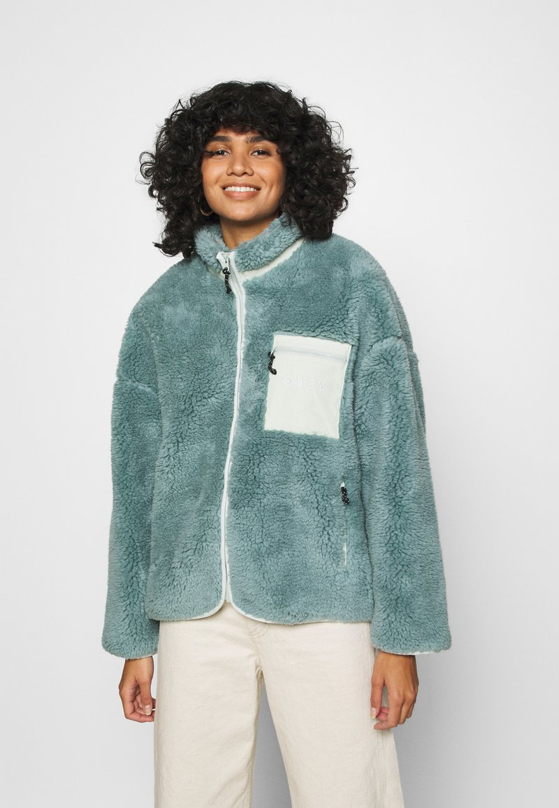 Obey Clothing - MESA SHERPA JACKET - Winter jacket - mineral blue
