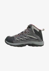 Columbia - MID CRESTWOOD™ MID WATERPROOF - Walking trainers - graphite, daredevil - 1