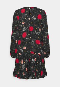 Wallis - STAR FLOWER RUFFLE SWING DRESS - Korte jurk - black - 1
