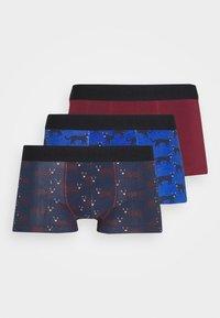Burton Menswear London - CHEETAH PRINT HIPSTER 3 PACK - Panties - navy - 0