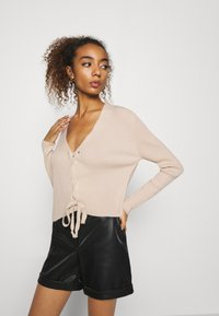 Missguided - LACE UP - Cardigan - beige - 3