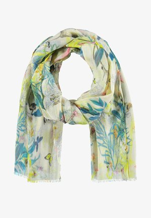 Scarf - off white ligh lime aloe druck