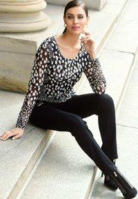 Alba Moda - Long sleeved top - schwarz,weiß,taupe - 3