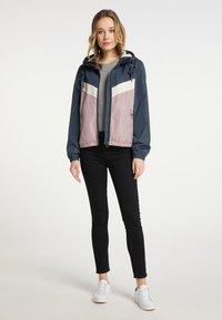 DreiMaster - Light jacket - grau blau vint.rosa - 1