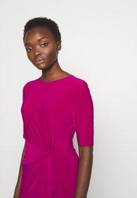 Lauren Ralph Lauren - MID WEIGHT DRESS - Day dress - bright fuchsia - 4