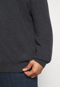 GANT - PLUS EXTRAFINE ZIP CARDIGAN  - Kofta - antracit melange - 6