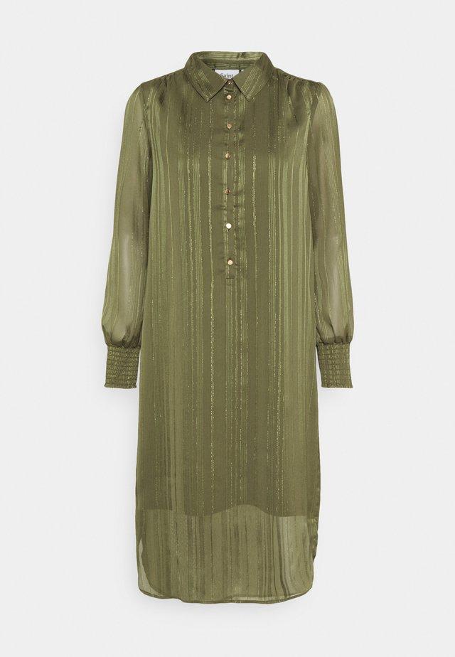 DAHLIA DRESS - Shirt dress - army green