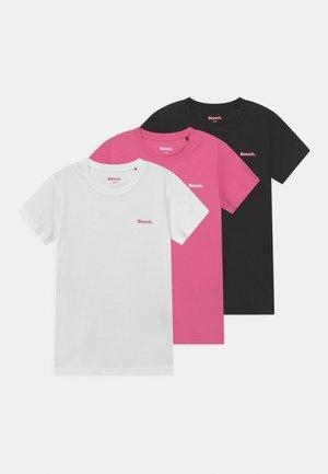 ARIANDE 3 PACK - Jednoduché triko - white/pink/black