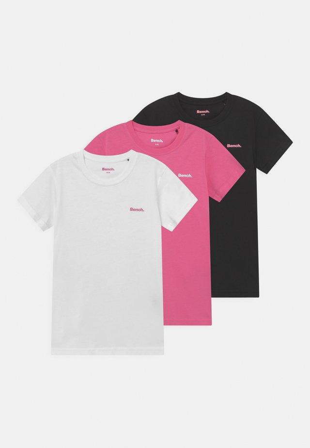 ARIANDE 3 PACK - T-shirt - bas - white/pink/black