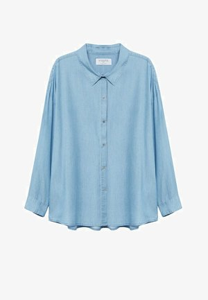 Button-down blouse - hellblau