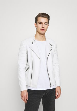 GLADIATOR - Leather jacket - white